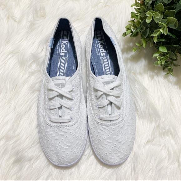 Keds Shoes   Champion Eyelet White